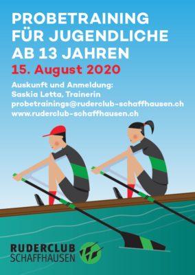 Probetraining für Jugendliche ab 13 Jahren am Samstag 15.8.2020