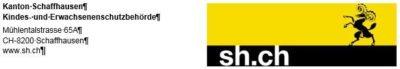 Kindes- und Erwachsenenschutzbehörde des Kantons Schaffhausen