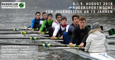 Rudersportwoche für Jugendliche ab 13 Jahren vom 5. - 8 August 2019
